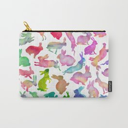 Watercolour Bunnies Carry-All Pouch