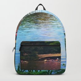 Central Park Boats on Rainbow Waters Backpack