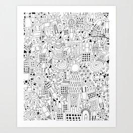 Frenetic City Art Print
