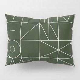 My Favorite Geometric Patterns No.6 - Deep Green Pillow Sham