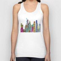 boston Tank Tops featuring Boston city  by bri.buckley