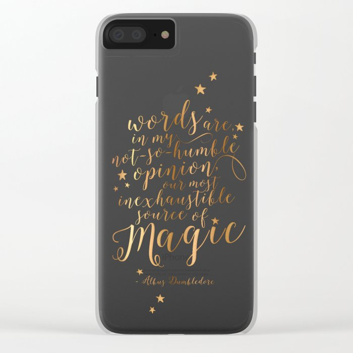 Dumbledore's Magic Words Clear iPhone Case