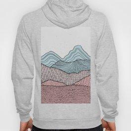 Early Morning Hills, Pastel Illustration Hoody