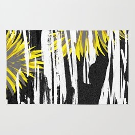 Abstract Palm Tree Leaves Design Rug