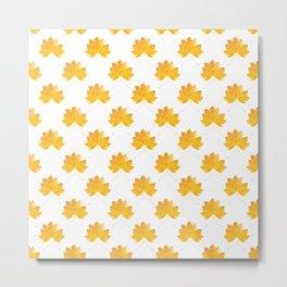 Maple leaves pattern Metal Print