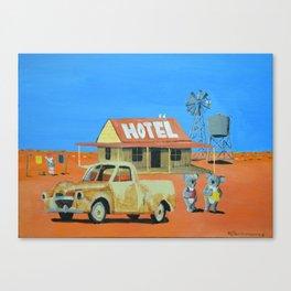 The Aussie Hotel Canvas Print