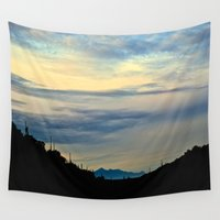 silhouette Wall Tapestries featuring Silhouette by M. Gold Photography