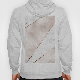 Spliced rose gold marble Hoody