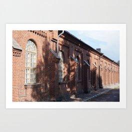 Brick row Art Print