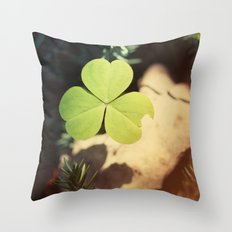Wishing For Luck Throw Pillow
