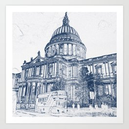 St Pauls Cathedral, London 2070 Art Print
