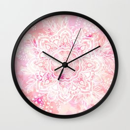 Queen Starring of Mandalas-Rose Wall Clock