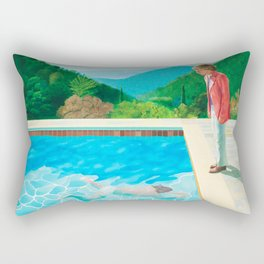 stand and swim people Rectangular Pillow