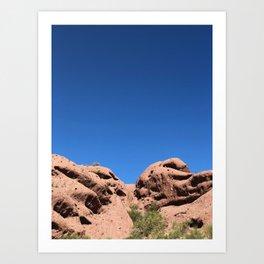 red rock buttes Art Print