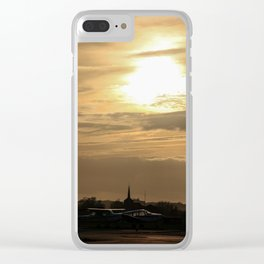 airport sunset Clear iPhone Case