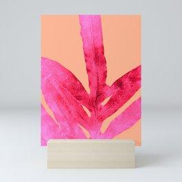 Peach Pink Ferns, Living Coral Mini Art Print