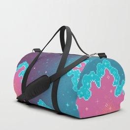 Candy Unicorn Pixel Galaxy Duffle Bag