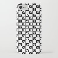 kingdom hearts iPhone & iPod Cases featuring Kingdom Hearts pattern by Airesama