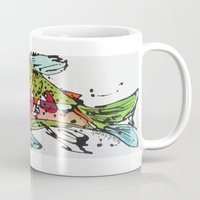 trout Mugs featuring Cutthroat Trout by Nicole Gaitan