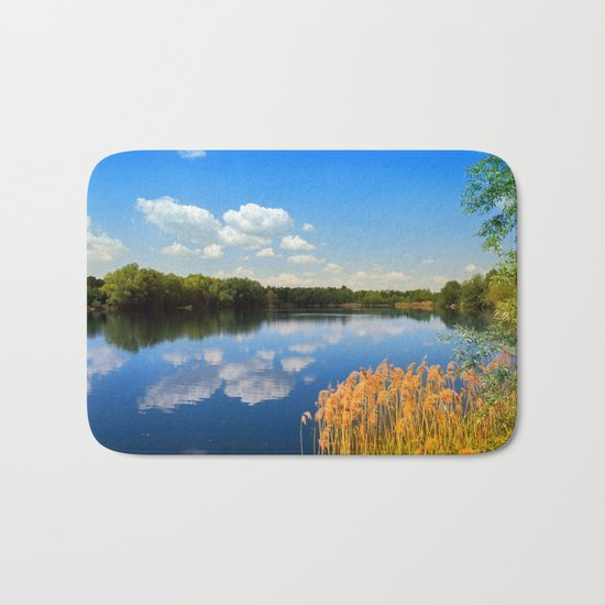Beautiful lake 44 Bath Mat