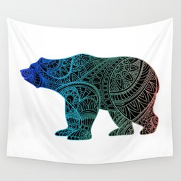 Colorful Rainbow Bear - III Wall Tapestry