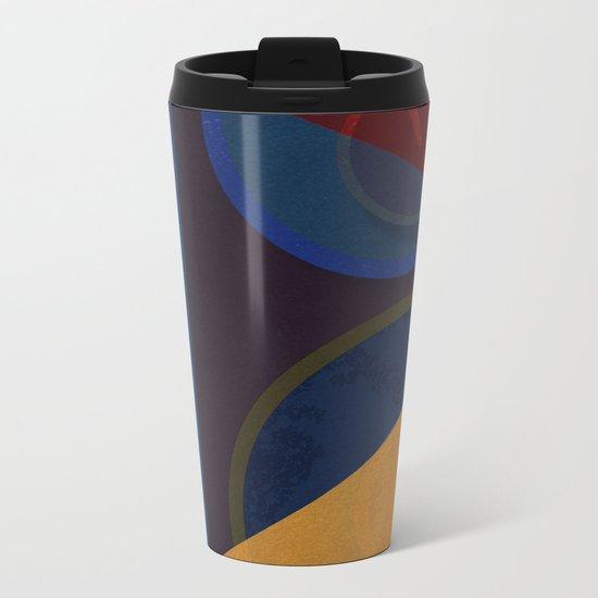 Abstract #265 Metal Travel Mug