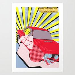 Lancia Fulvia Art Print