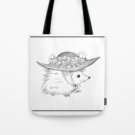 Hedgehog in a Hat Tote Bag