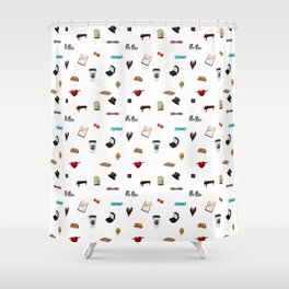 Pattern of Klaine things Shower Curtain