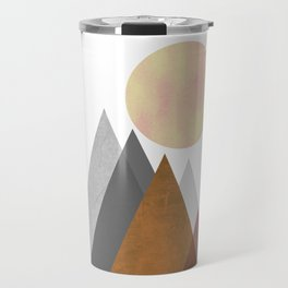 The Gathering, Geometric Landscape Art Travel Mug