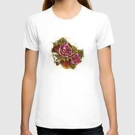 Tattoo Flash grunge....skull rose T-shirt
