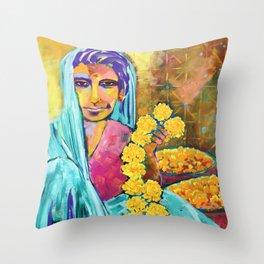India - Marigold (Colour Me India) Throw Pillow