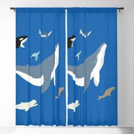 sea yoga Blackout Curtain