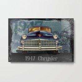 vintage car automobile chrysler Metal Print