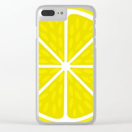 Fresh juicy lime- Lemon cut sliced section Clear iPhone Case
