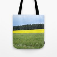 sweden Tote Bags featuring Sweden by Anya Kubilus