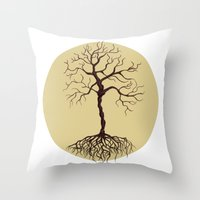 tree of life Throw Pillows featuring life tree by Mihai Paraschiv