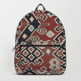 vintage Kilim Rug | Ethnic Style Red Blue Backpack