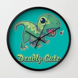 Deadly Cute Raptor Wall Clock