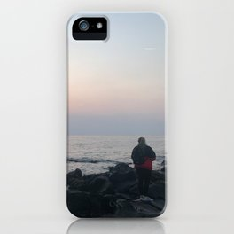 sunset girl iPhone Case