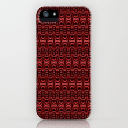 Dividers 07 in Red over Black iPhone Case