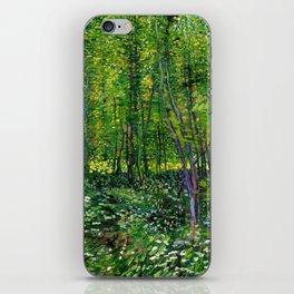 Vincent Van Gogh Trees and Undergrowth 1887 iPhone Skin