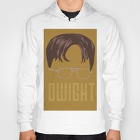 dwight schrute Hoodies featuring Dwight and you by Ally Simmons