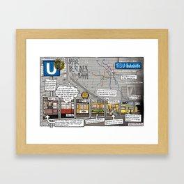 INFOCOMIC BERLINER U-BAHN Framed Art Print