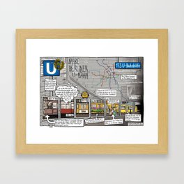 INFOCOMIC BERLINER U-BAHN Framed Art Print