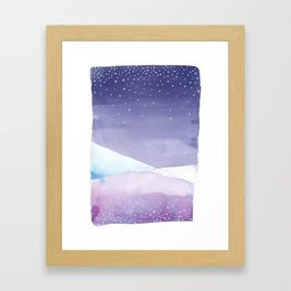 Snowy Landscape Abstract Framed Art Print