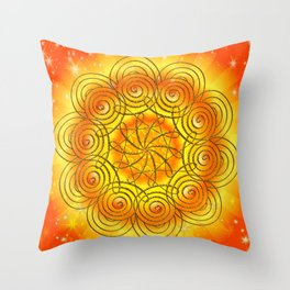 Mandala - Selbstachtung Throw Pillow