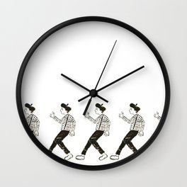 Talkless Man Wall Clock