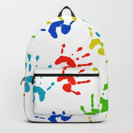Hands of colors Backpack