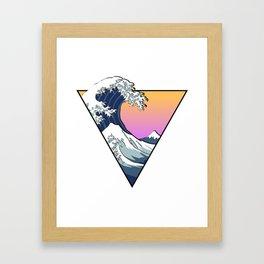 Great Wave Aesthetic Framed Art Print